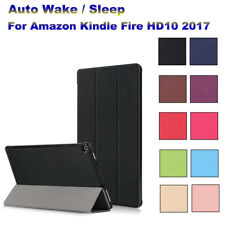 SVEGLIARSI/sonno PU Astuccio Custodia in pelle per Amazon Kindle Fire HD 10-2017