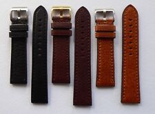 BUFFALO GRAIN CALF STRAP BLACK/BROWN/TAN 18MM-24MM - FOR PANERAI/U BOAT/TW STEEL