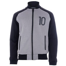Junior Boys adidas Messi Track Top Grey- Zip Fastening- Ribbed Cuffs, Collar And