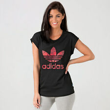 Women&Apos;S adidas Originals Boyfriend Roll Up T-Shirt In Black