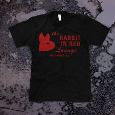 Rabbit in Red t-shirt Mens, Black -- Michael Myers Halloween Movie 1978 Horror