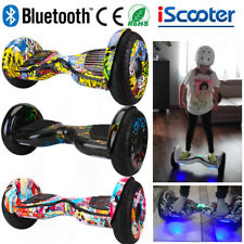 10 Pouces Self Balancing Scooter électrique+Bluetooth Skateboard Smart Overboard