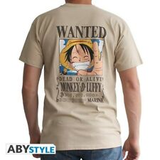 ONE PIECE - Tshirt Wanted Luffy man SS sand - basic