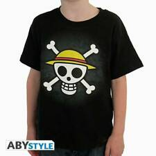 ONE PIECE - Tshirt Skull with map kids SS black - basic