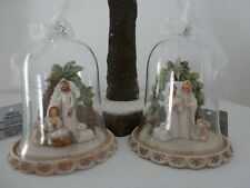 Gisela Graham Resin Nativity in a Glass Dome Christmas Decoration 8.5cm