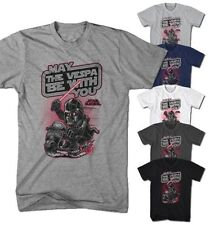 Maglietta Uomo May The Vespa Be With You Vader Star Darkside Nuovo S-5XL MY9416