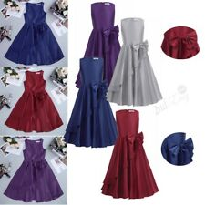 Flower Girl Dress Bowknot Prom Formal Pageant Wedding Easter Bridesmaid Dresses