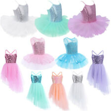 Girl Dance Costume Ballet Leotard Dress Tutu Skirts Dancewear Kids SZ 2-10 Years