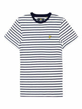 Lyle & Scott Men's Breton Stripe SS T-shirt Navy/Off white TS455V