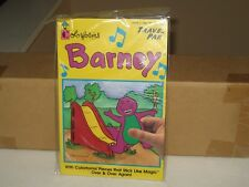 1993 Colorforms  Barney The Purple Dinosaur Travel Pack Play Set Mint Sealed