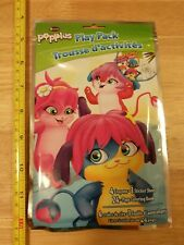 SABAN Popples Play Pack w/ 4 Crayons, Sticker Sheet, Mini 24-page Coloring Book