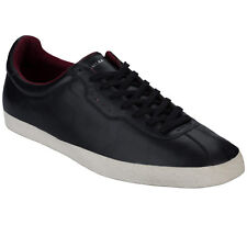 Mens Lawler Duffy Leather Sting Trainers In Black-Lace Fastening-Padded
