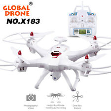 Global Drone 6-axes X183 with 2MP Wi-Fi FPV Videocamera HD GPS senza spazzole