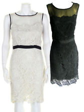 Darling Cream / Black Pearl Lace Dress S-XL 10-16 RRP�89 Intricate Lace Fitted