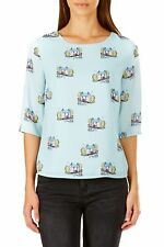 Sugarhill Boutique Polly Vintage Scene Top XS-XL UK 8-16 RRP�36