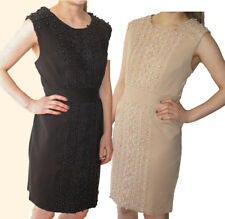 10-16 RRP �59 Fitted Shift Dress with Lace Arms Darling Black Hope Dress  S-XL