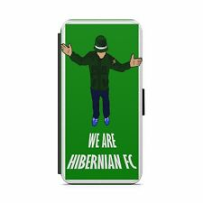 Hibs We are Hibernian HFC Faux leather flip phone case. Brand New.