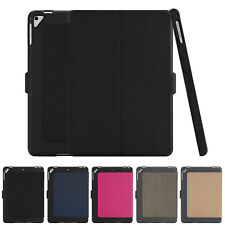 """Heavy Duty Flip PU Leather Rubber Smart Case Cover for Apple New iPad 9.7"""" 2017"""