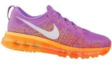 Nike Flyknit Air Max Womens Running Trainers Atomic Purple Orange White