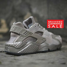 BNIB New Womens Nike Air Huarache Run PRM Premium Grey Iron Silver size 7.5 uk