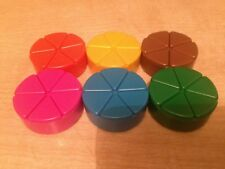 Trivial Pursuit Spares Scoring Wedges Set Movers Token Playing Piece Replacement