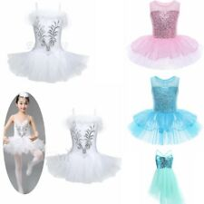 Girl Pink Blue Sequin Dancing Dress Leotard Ballet Tutu Dress Dance Ballerina