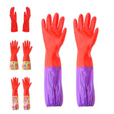 Cleaning Long Gloves Rubber Latex Dish Washing Household Kitchen Glove L0219