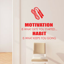 Motivation Is What Gets You Started Autocollant Mural Sports CITATION