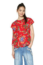 Desigual Red Desigual Luxury Blouse Floral Frilled XS-XXL UK 8-18 RRP ?54