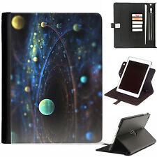 Universe Planets Luxury Apple ipad 360 swivel leather case cover with card slots