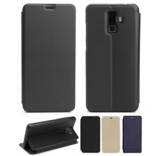 PU Leather Stand Flip Built-in Case Cover Skin For Leagoo M9 Smartphone