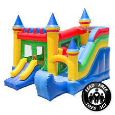 Commercial Bounce House 100% PVC Inflatable Castle King Jumper Slide with Blower