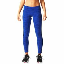 ADIDAS ESSENTIALS 3S TIGHT AOP [ GR. L / XL ]  DAMEN LAUFHOSE BLAU NEU & OVP