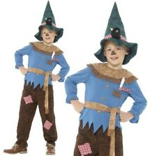 Childs Boys Patchwork Scarecrow Fancy Dress Costume & Hat Oz New by Smiffys