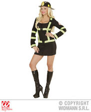 Women Ladies Sexy Firefighter Girl Emergency Services Fancy Dress Costume