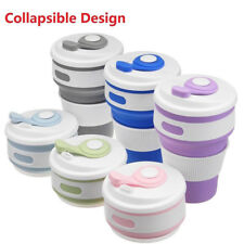 350ML Folding Coffee Cup Collapsible Reusable Silicone Mug Portable Outdoor Cup