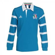 ADIDAS F. I. r. italie Maillot de rugby [ gr. S/M/L ] manches longues polo bleu