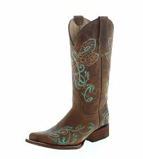 Circle G by Corral Boots Stiefel L5123 Braun Turquoise Damen Westernstiefel