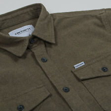 New Carhartt Vendor L/S Flannel Shirt Cypress Olive Heather Size S