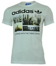 Adidas Photo 1 Trefoil Skyline Tee uomo Originals T-shirt camicia bianco