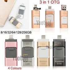 USB OTG Disk i-Flash Drive 32 64 128GB Storage Memory Stick for iPhone X 8 7 6 5