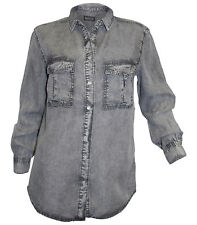 Jeansbluse Laura Scott Gr. 34 36 40 grey used Jeanshemd Jeans Bluse neu