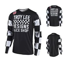 Troy Lee Design GP Checker MX Enduro Motocross Jersey schwarz