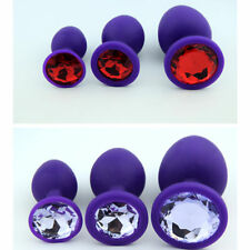 Unisex Butt Toy Plug Anal Insert Silicone Jeweled Sexy Stopper
