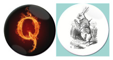 # Q Anon 4chan Follow the White Rabbit Button Badge Pin Various 1 inch 25mm