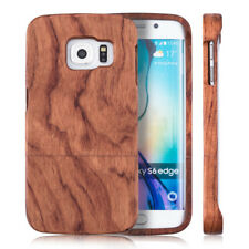kwmobile CUSTODIA RIGIDA LEGNO PER SAMSUNG GALAXY S6 EDGE VERO NATURALE COVER