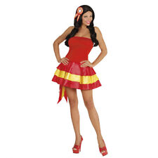 Womens Ladies Spain Spanish Fancy Dress Costume Pageant Girl Outfit Adult