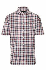 Mens Champion Country Style Casual Check Short Sleeved 100% Cotton Shirt 3042