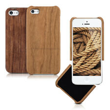 kwmobile CUSTODIA RIGIDA LEGNO PER APPLE IPHONE SE 5 5S VERO NATURALE COVER