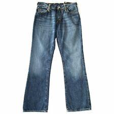 WOMEN'S EVISU PURPLE PAINT WASHED BLUE DENIM JEANS BOOTCUT W28 29 30 RRP £149